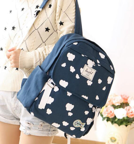 Cloud Printed Travel Backpack