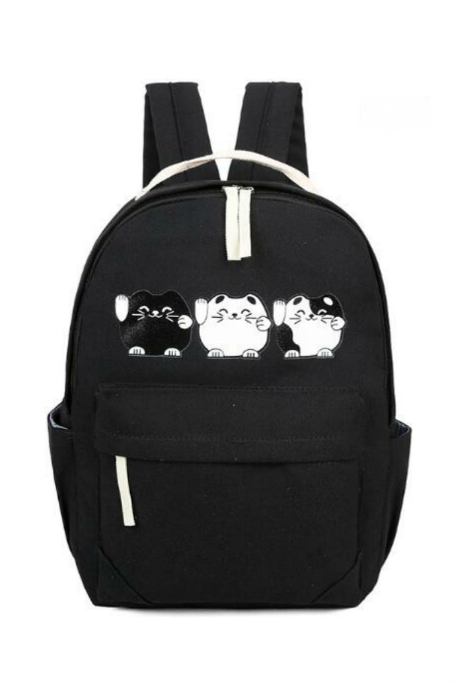 Lovely Cat Black School Backpack