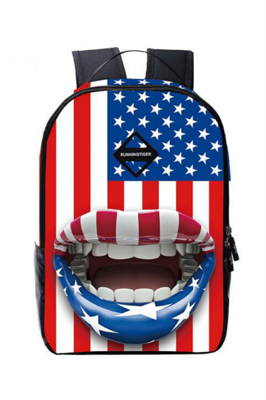 3d American Flag School Backpack