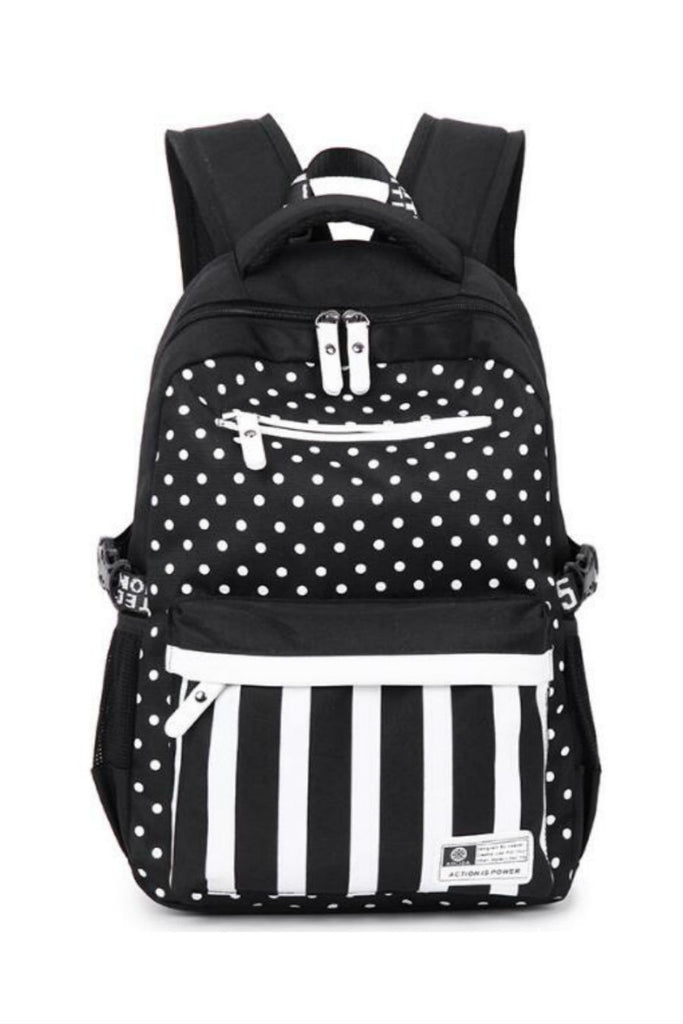 Striped Polka Dots School Backpack