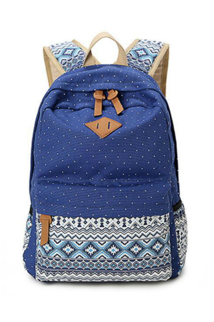 Polka Dots Tribal School Backpack