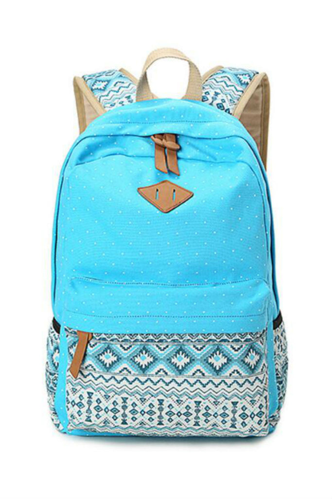 Tribal Polka Dots School Backpack