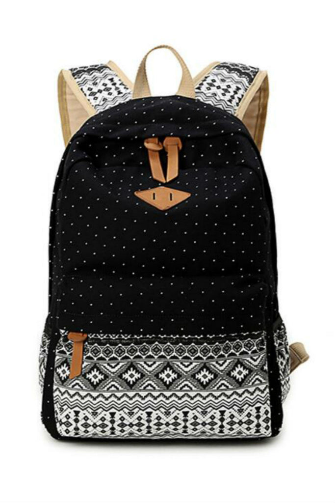 Polka Dots Tribal Travel Backpack