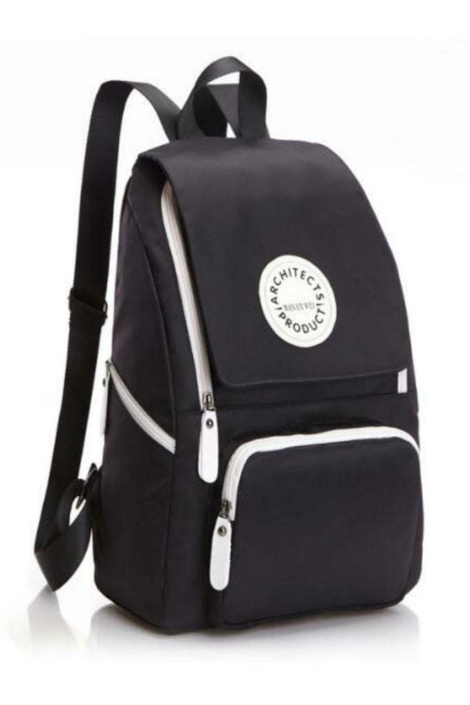 Black Zipper School Backpack