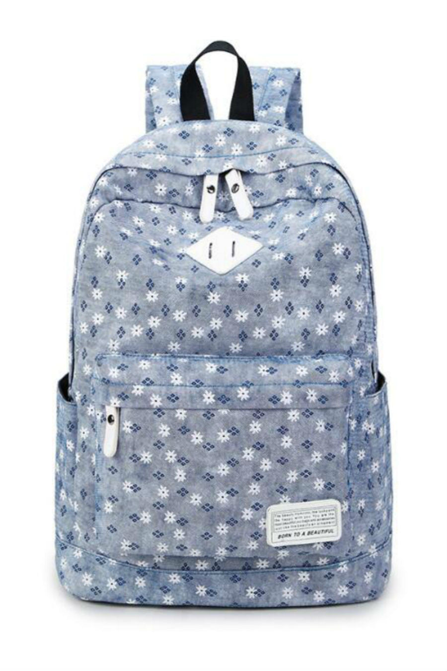 Denim Blue Travel Backpack