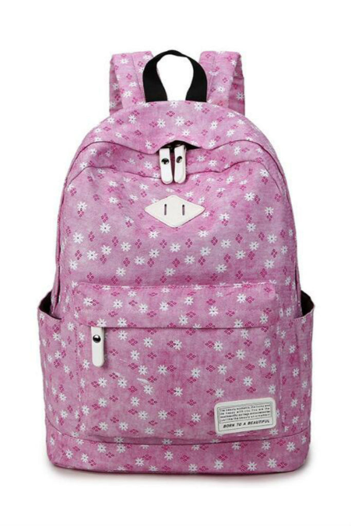 Sweet Pink Flower Travel Backpack