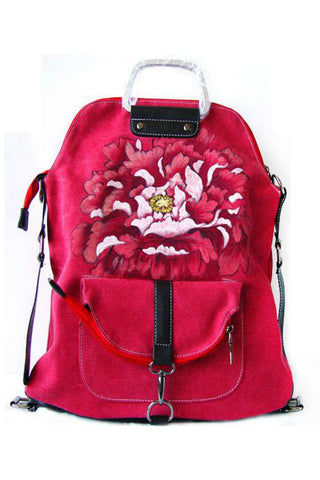 Ethnic Red Travel Backpack