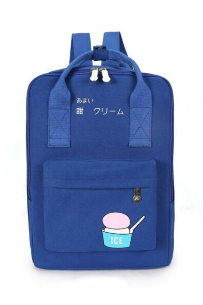 Harajuku Royal Blue Ice Cream Backpack