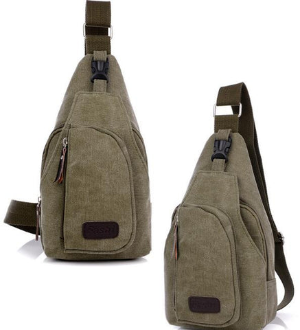Men's Casual Canvas Sling Bag