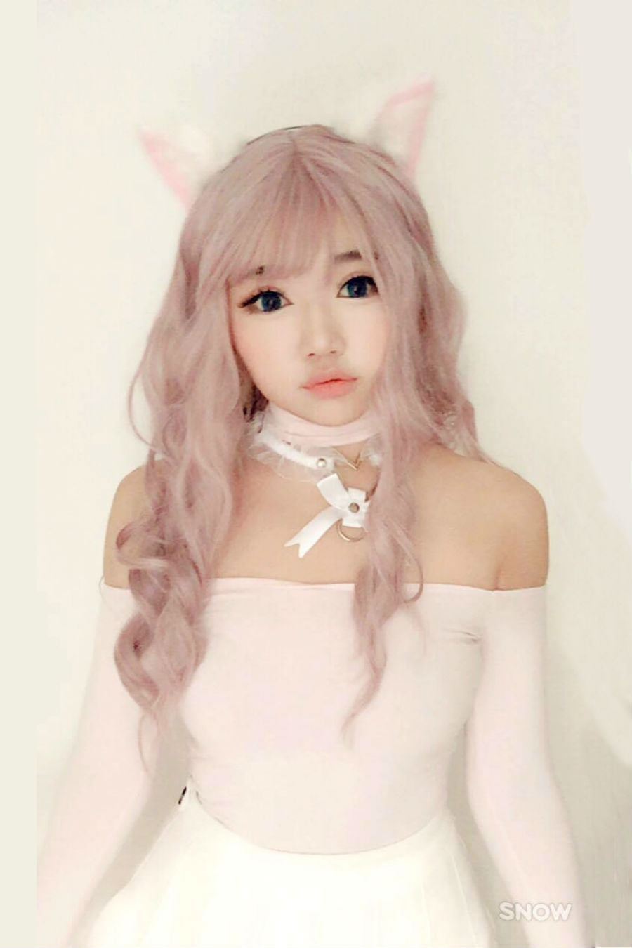 Baby Pink Cosplay Curly Wig