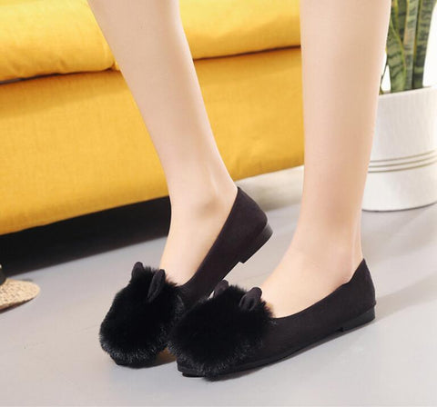 Cute Fur Cat Loafers
