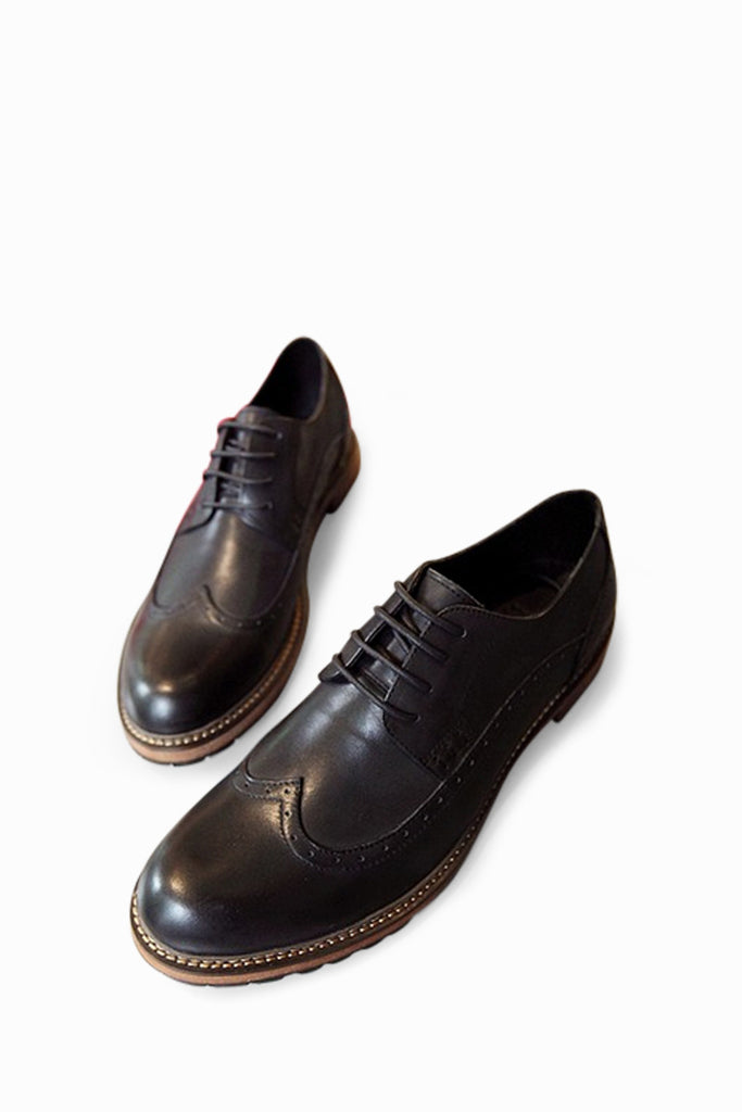 Retro Brogues In Black