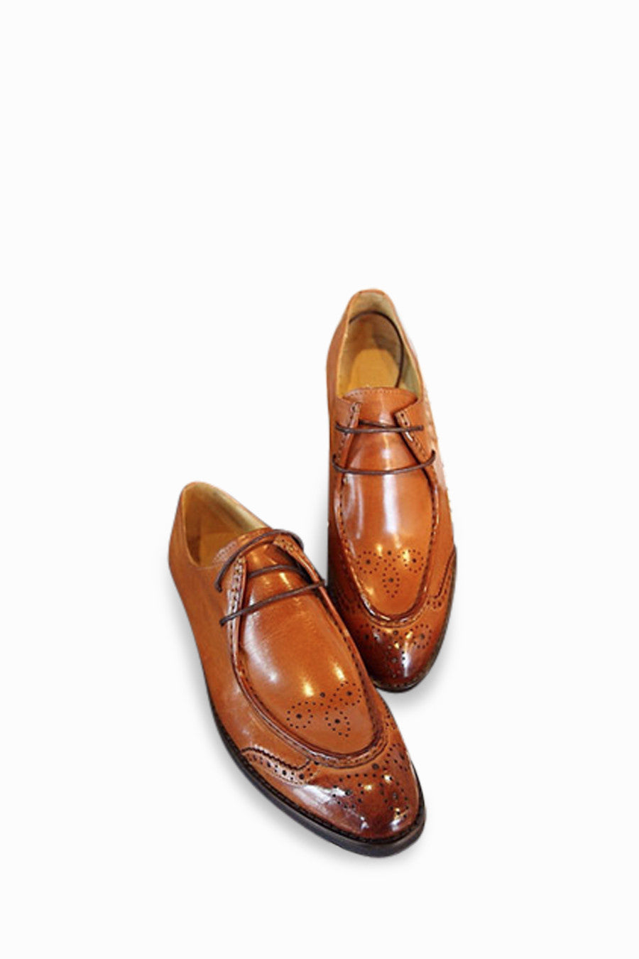 Retro Brogues In Caramel