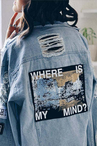 """Where Is My Mind"" Ripped Jacket"