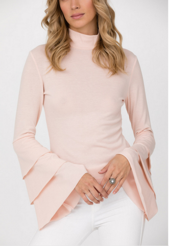 Pink Layered Sleeve Knit Top
