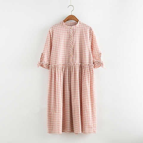 Mori Girl Plaid Dress