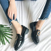 O-ring Detail Patent Loafers