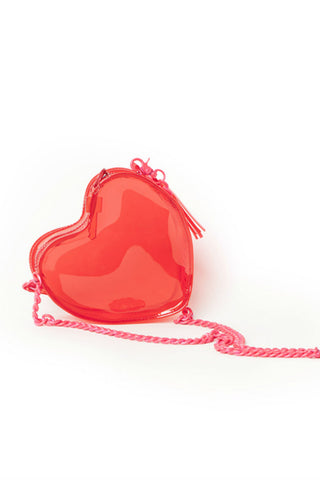 Cute Red Heart Chain Bag