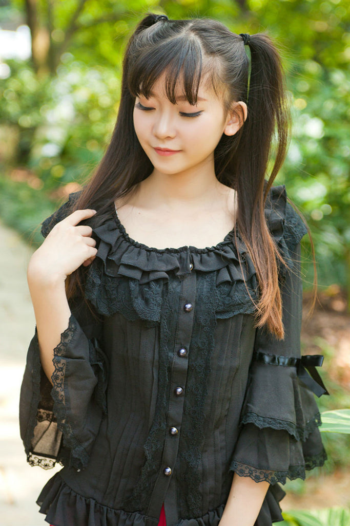 Lolita Lace Bell Sleeve Blouse