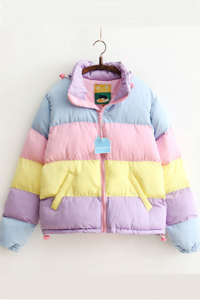 Pastel Colours Padded Jacket