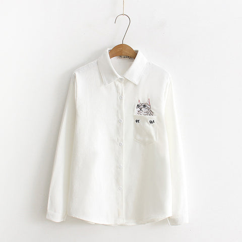 Cat Pocket Shirt