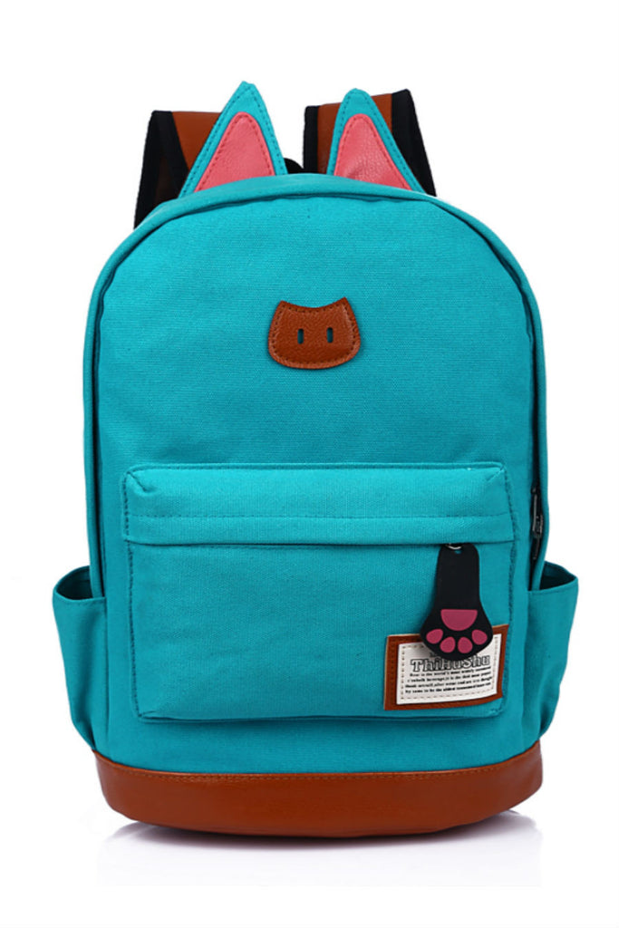 Sky Blue Cute Cat Ear Backpack