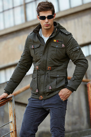 Military Green Padded Winter Coat