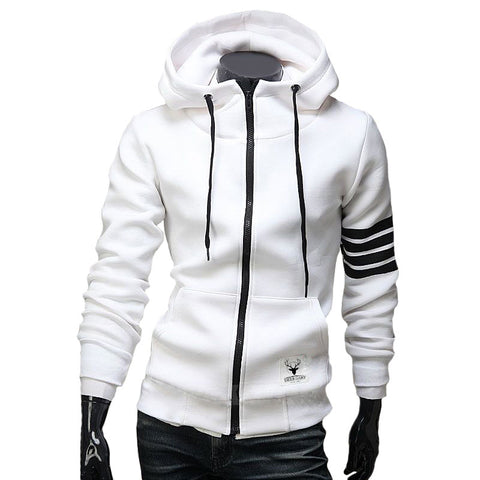 Casual Stripes Hooded Jacket