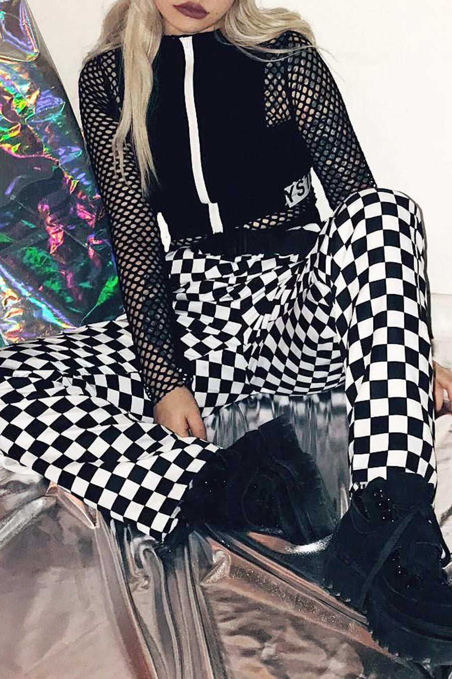 Checkerboard Grunge Pants