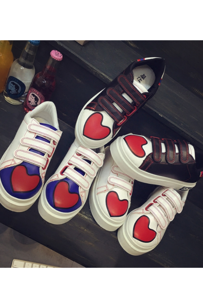 Lovely Heart Velcro Sneakers