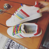 Rainbow Lace Up Sneakers