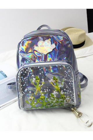 Cute Alien Hologram Backpack