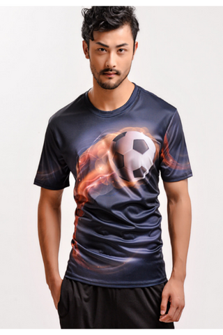 Football Digital Printed T-shirt