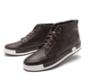 Lace Up High Top Boots In Brown