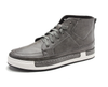 Men's Lace Up High Top Boots In Gray