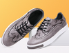 Gray Lace Up Oxford Sneakers