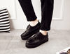 Men's Black Oxford Platform Shoes