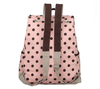 Retro Polka Dots School Backpack In Pink