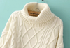 Turtleneck Cable Pockets Knitted Sweater