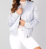 Gray Zipper Bomber Jacket