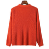 Orange V-neck Knitted Sweater