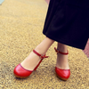 Red D'orsay Pump Shoes