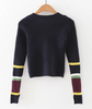 Striped Long Sleeve Crop Knitted Top
