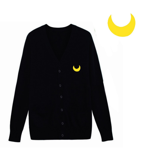 Jfashion Sailor Moon Cardigan In Black