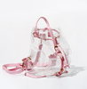 Transparent Backpack In Pink