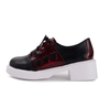 J-fashion Black Red Heart Lace Up Shoes