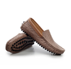 Fashion Men's Driving Moccasin Loafer In Bronze