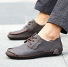 Vintage Stitches Lace Up Shoes In Dark Brown