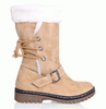 Fashion Fluffy Snow Boots In Beige