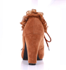 Frilled Heeled Shoes In Tan